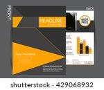 vector business flyer  brochure ... | Shutterstock .eps vector #429068932