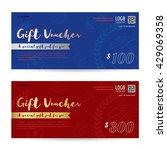 gift voucher  gift certificate  ... | Shutterstock .eps vector #429069358