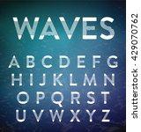typographic alphabet design set ... | Shutterstock .eps vector #429070762