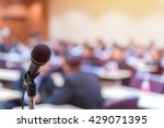 microphone in meeting room for... | Shutterstock . vector #429071395