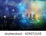 smart city and wireless... | Shutterstock . vector #429072145