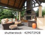 an upscale backyard terrace... | Shutterstock . vector #429072928