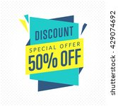 sale badge  raster in flat... | Shutterstock . vector #429074692