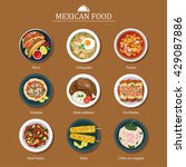 set of mexican food flat design | Shutterstock .eps vector #429087886