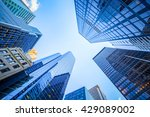 up view in financial district ... | Shutterstock . vector #429089002
