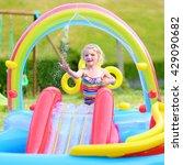 happy healthy kid having fun in ... | Shutterstock . vector #429090682