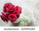 red roses in vase | Shutterstock . vector #429094282