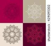set  of outline mandalas.... | Shutterstock .eps vector #429095302