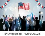 people group silhouette crowd...   Shutterstock .eps vector #429100126