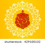 indian god ganesha  ganesh idol ... | Shutterstock .eps vector #429100132
