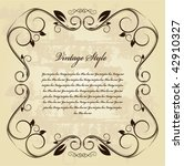 vintage frame | Shutterstock .eps vector #42910327
