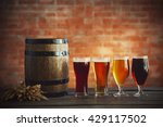 glasses with different sorts of ... | Shutterstock . vector #429117502