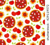 seamless pattern with pizza ... | Shutterstock .eps vector #429119572