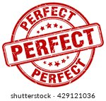 perfect. stamp | Shutterstock .eps vector #429121036
