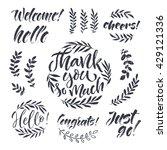 vector set of lettering...   Shutterstock .eps vector #429121336