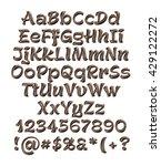 3d dark chocolate alphabets... | Shutterstock . vector #429122272
