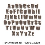 3d dark chocolate alphabets...   Shutterstock . vector #429122305