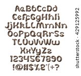 chocolate alphabets on isolated ... | Shutterstock . vector #429125992
