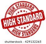 high standard. stamp | Shutterstock .eps vector #429132265