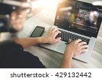 team work concept businessman... | Shutterstock . vector #429132442