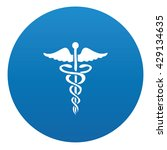 medical icon on blue button... | Shutterstock .eps vector #429134635