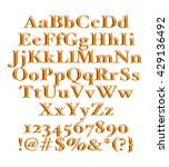 3d gold alphabets on isolated... | Shutterstock . vector #429136492