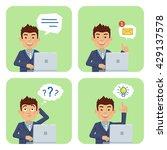 set of businessman characters... | Shutterstock .eps vector #429137578