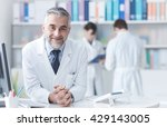 smiling confident doctor at the ... | Shutterstock . vector #429143005