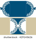 the layout of the cards with... | Shutterstock .eps vector #429143626