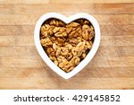 heart filled with walnuts | Shutterstock . vector #429145852