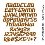 3d chocolate alphabets on... | Shutterstock . vector #429149122