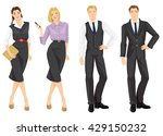 group of business people in... | Shutterstock .eps vector #429150232