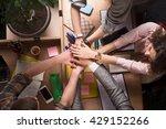 top view of business people in... | Shutterstock . vector #429152266