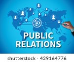 public relations businessman... | Shutterstock . vector #429164776