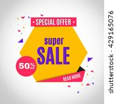 sale banner. | Shutterstock .eps vector #429165076