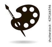 brush and palette black icon | Shutterstock .eps vector #429166546