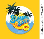 summer sale circle label | Shutterstock .eps vector #429167392