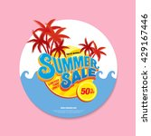 summer sale circle label | Shutterstock .eps vector #429167446