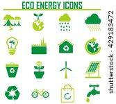 vector eco icons | Shutterstock .eps vector #429183472
