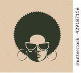 front view portrait of a black...   Shutterstock .eps vector #429187156