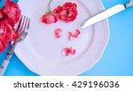 romantic restaurant table...   Shutterstock . vector #429196036