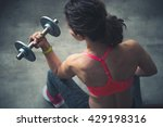 body and mind workout in loft... | Shutterstock . vector #429198316