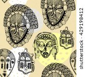 seamless pattern with african... | Shutterstock .eps vector #429198412