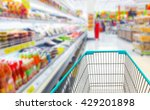 shopping cart in supermarket. | Shutterstock . vector #429201898