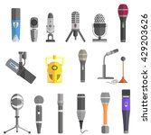 microphone set design flat...