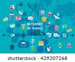 internet of things iot...   Shutterstock .eps vector #429207268