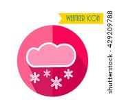 cloud and snow icon. weather...