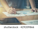 businessgirl working on desk... | Shutterstock . vector #429209866