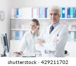 professional doctor with his... | Shutterstock . vector #429211702