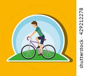 sport cycling design  | Shutterstock .eps vector #429212278